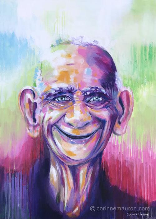Vieil homme souriant