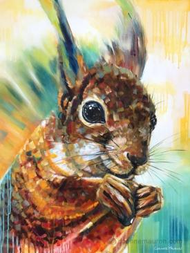 écureuil très coloré