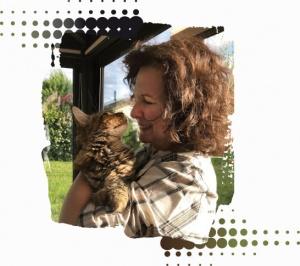Photo de Corinne avec chat